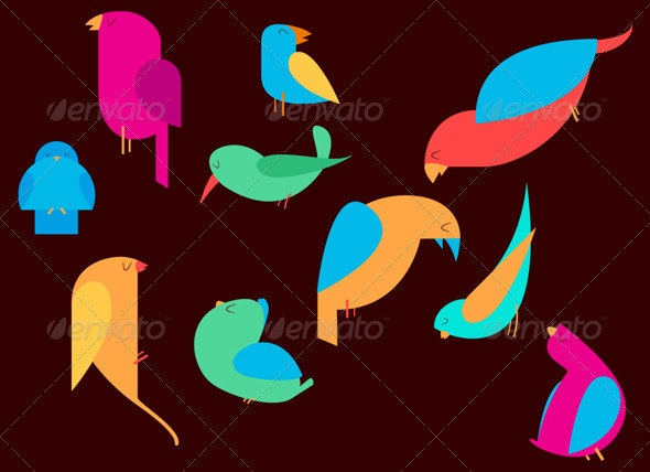 Birds Vector Characters - Animals Characters