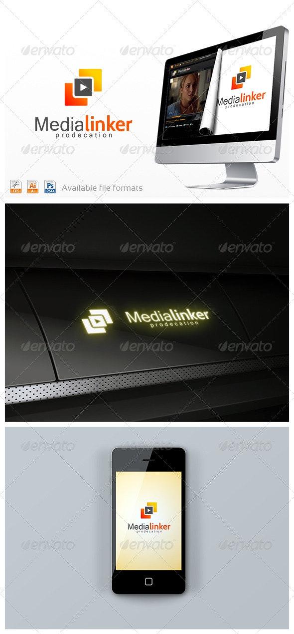 Media Linker Logo - Vector Abstract