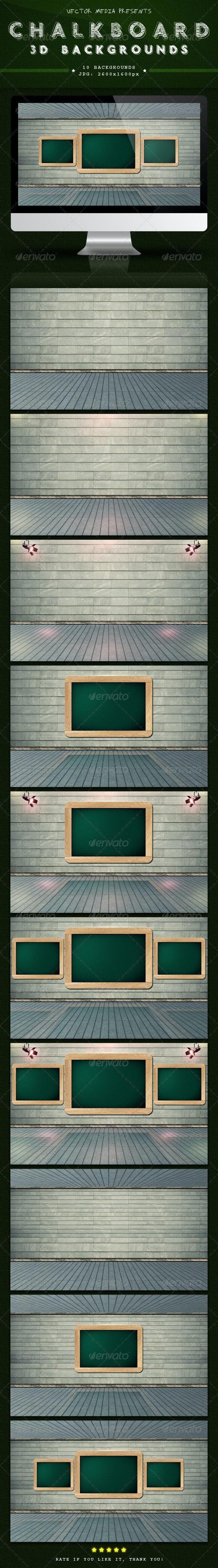 Chalkboard - 3D Backgrounds - 3D Backgrounds