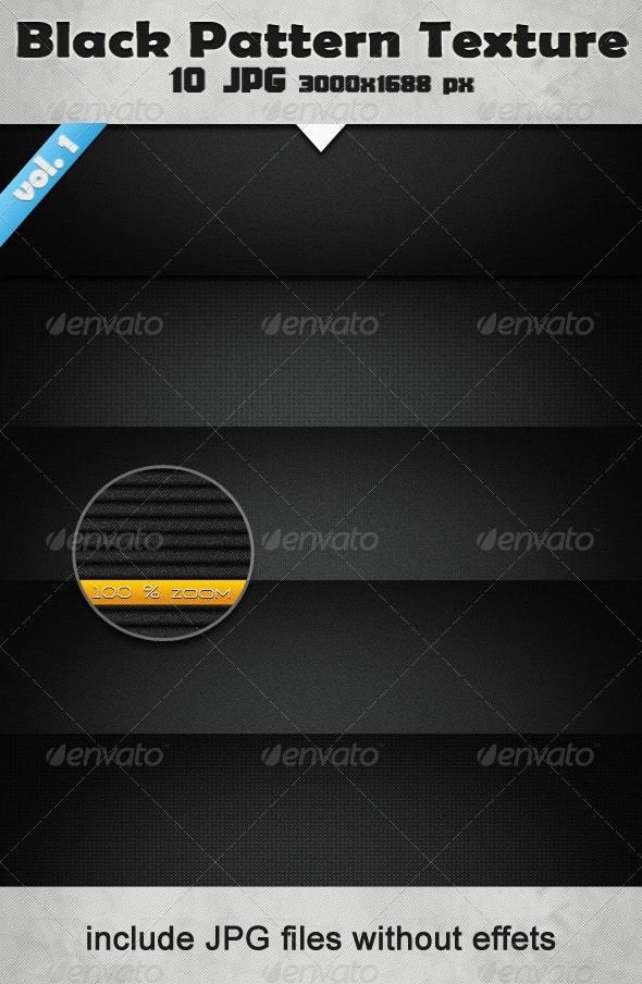 10 HQ  Black Pattern Textures - Metal Textures