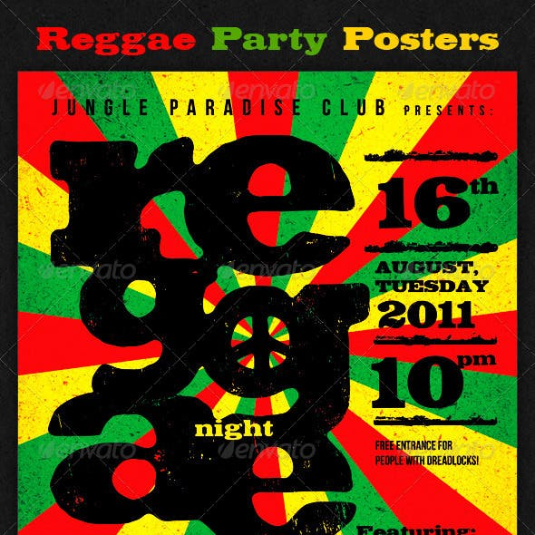 Reggae Party Posters