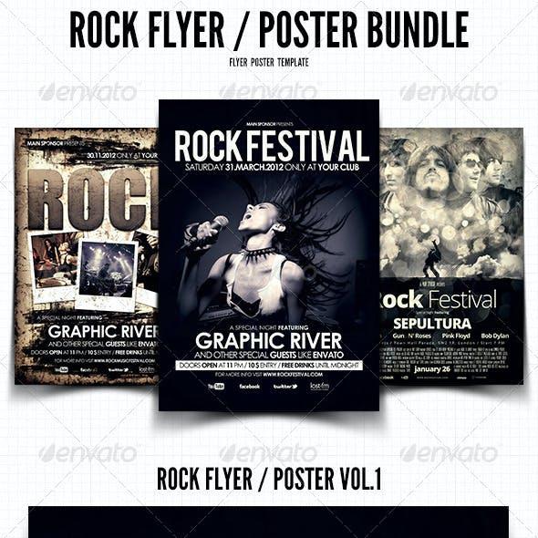 Rock Flyer / Poster Bundle
