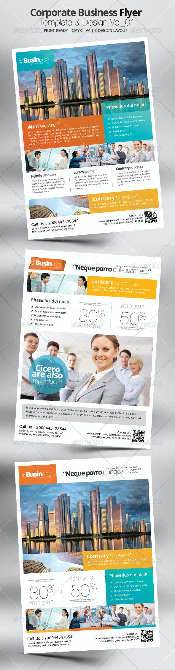 Corporate Business Flyer Template & Design Vol_01 - Corporate Flyers