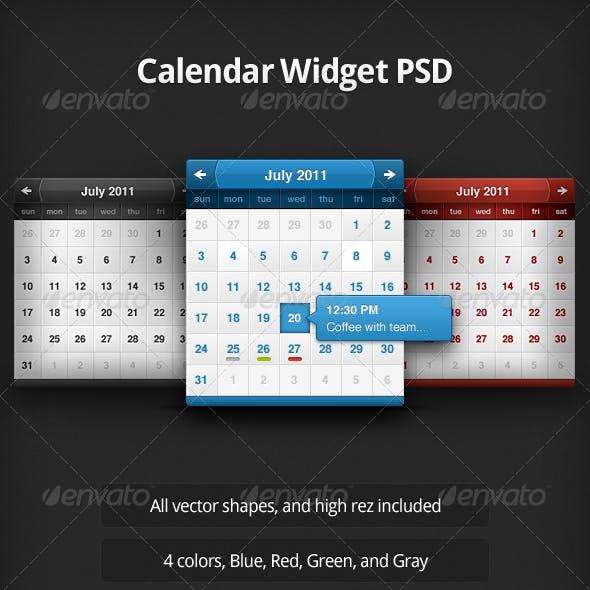 Calendar Widget PSD