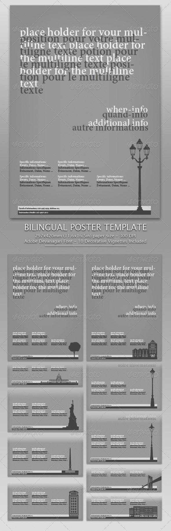 Bilingual Poster Template - Miscellaneous Print Templates