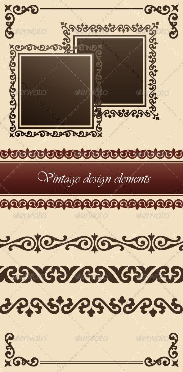 Vintage Design Elements - Vectors