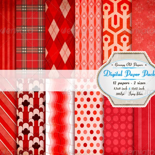 Red Riding Hood Digital Paper Pack