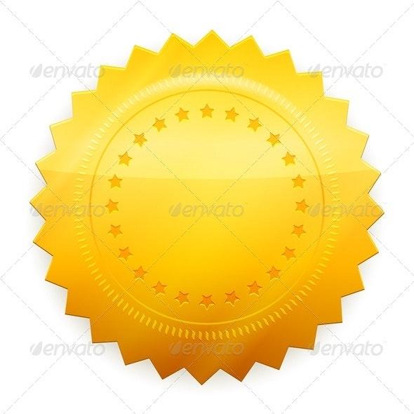 Blank guarantee certificate - Decorative Symbols Decorative