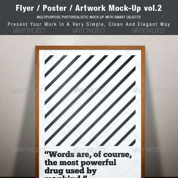 Flyer / Poster / Artwork Mock-up vol.2
