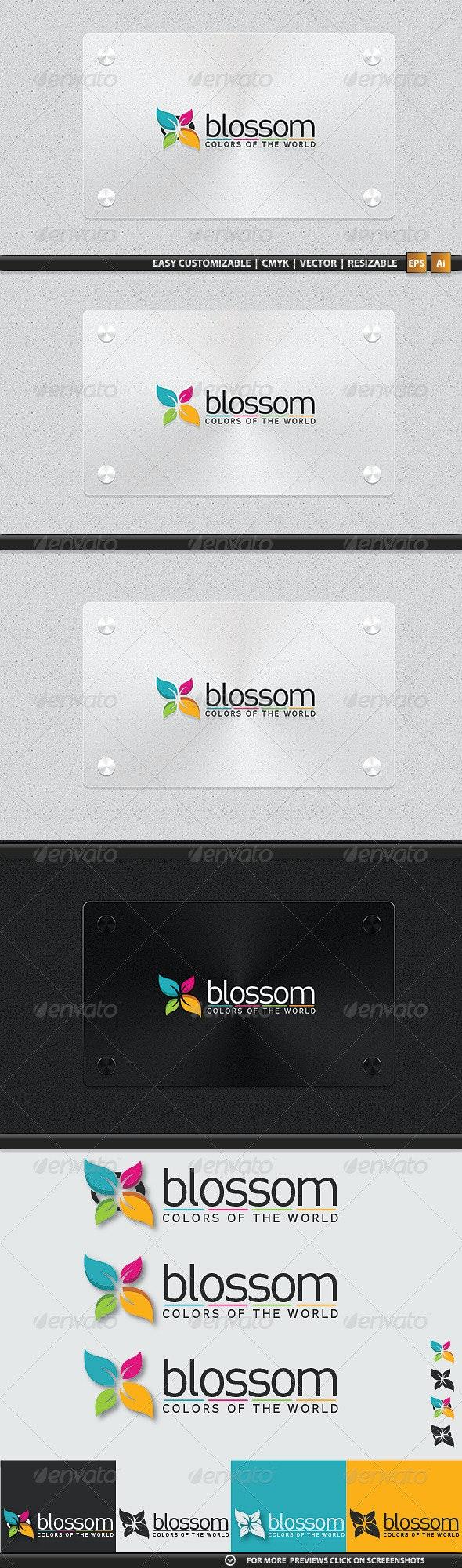 3 Variations Blossom Logotype - Nature Logo Templates