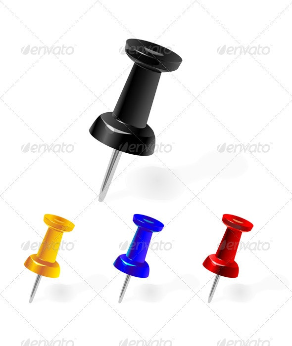 Vector set of clerical pins - Man-made Objects Objects