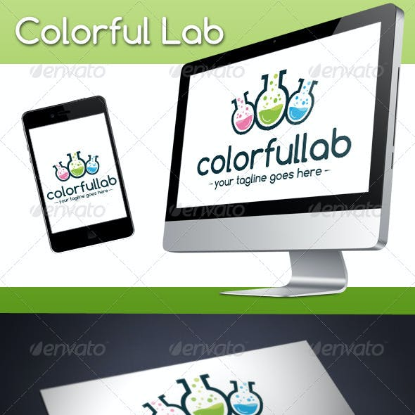 Colorful Lab Logo Template