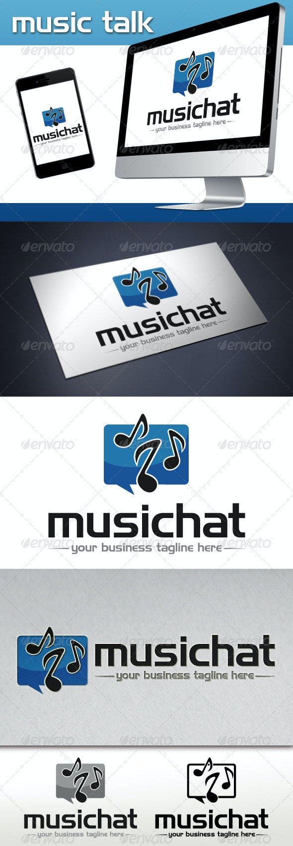 Music Talk Logo Template - Vector Abstract