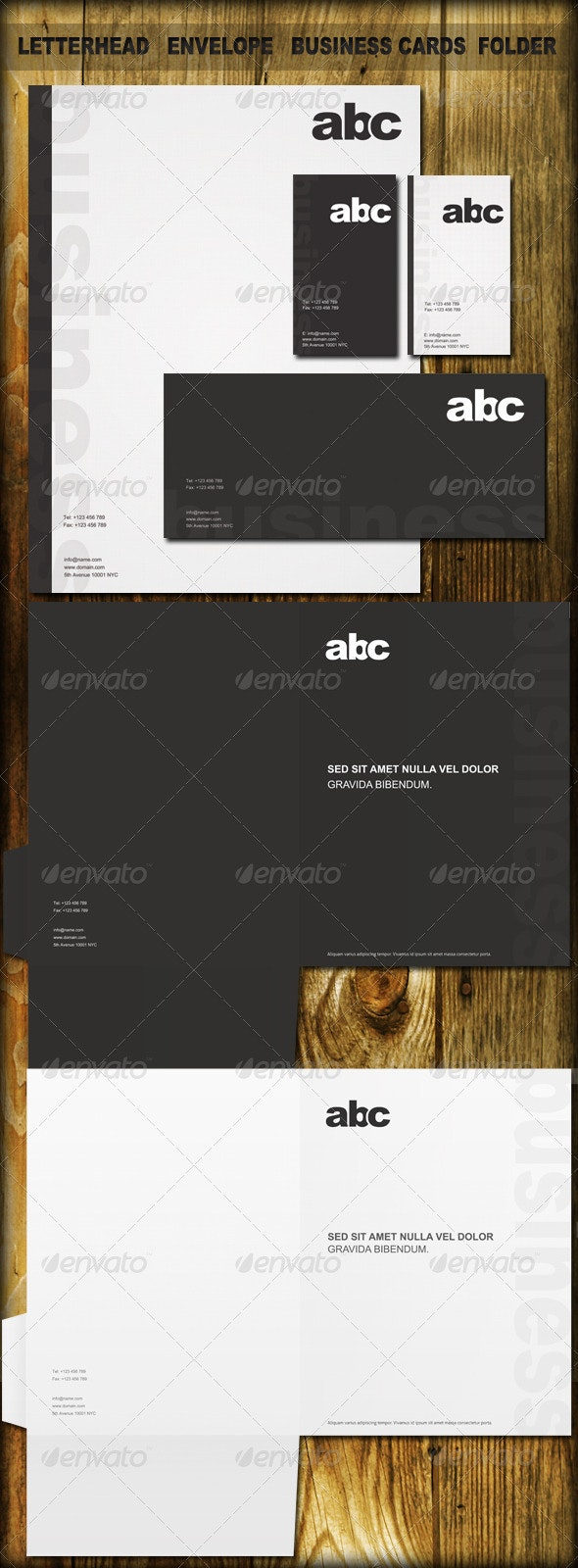 Black&White Identity Kit - Stationery Print Templates