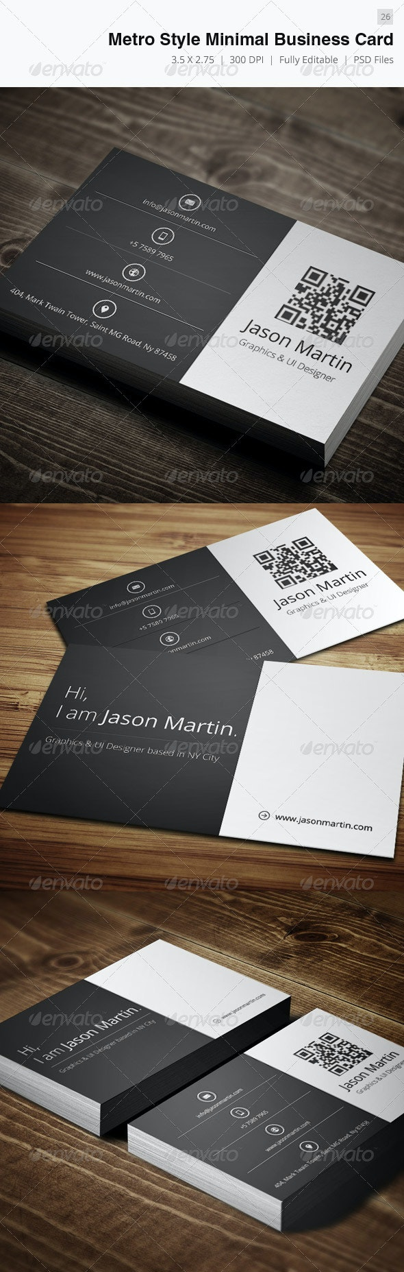 Minimal Creative Business Card - 26 - Creative Business Cards