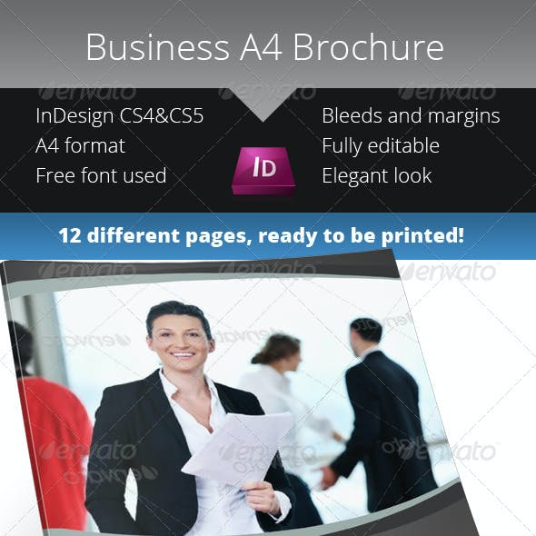 Simple Business Brochure - InDesign Template
