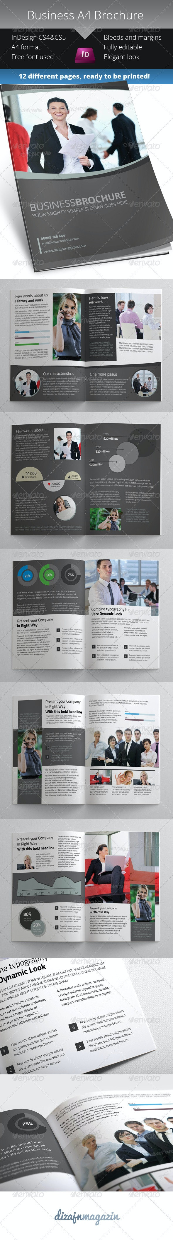 Simple Business Brochure - InDesign Template - Corporate Brochures