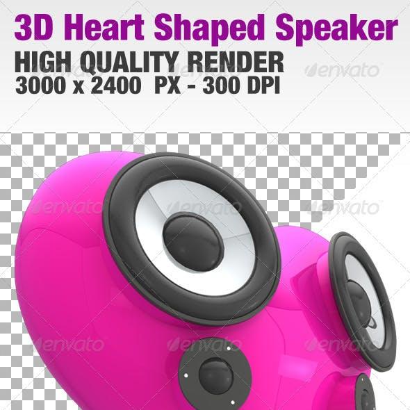 3D Heart Shaped Speaker