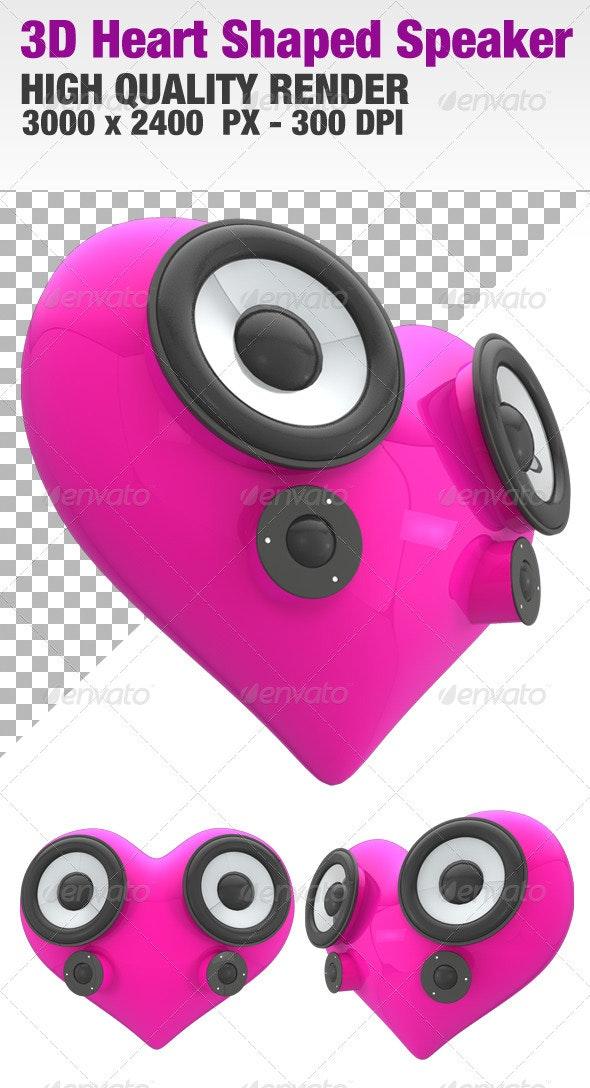 3D Heart Shaped Speaker - 3D Renders Graphics