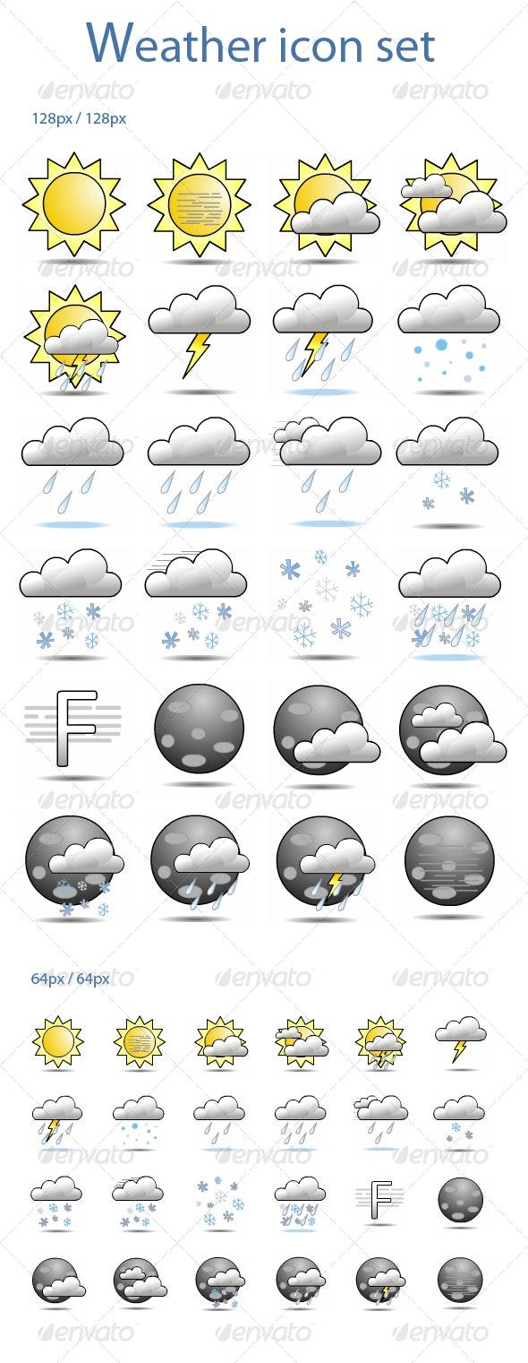 Weather Icon Set (24 icons) - Web Icons