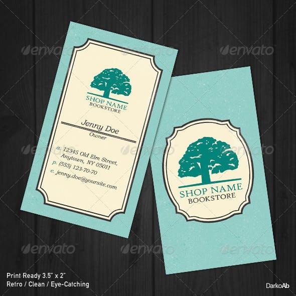 Bookstore Retro Business Card