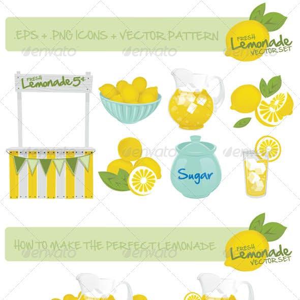 Lemonade's Stand Vector Set