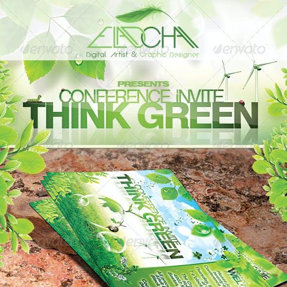 Think Green Bundle Flyer & Business Card