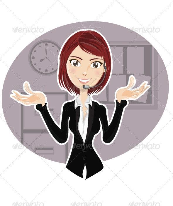 Confident Customer Service Representative  - Characters Vectors