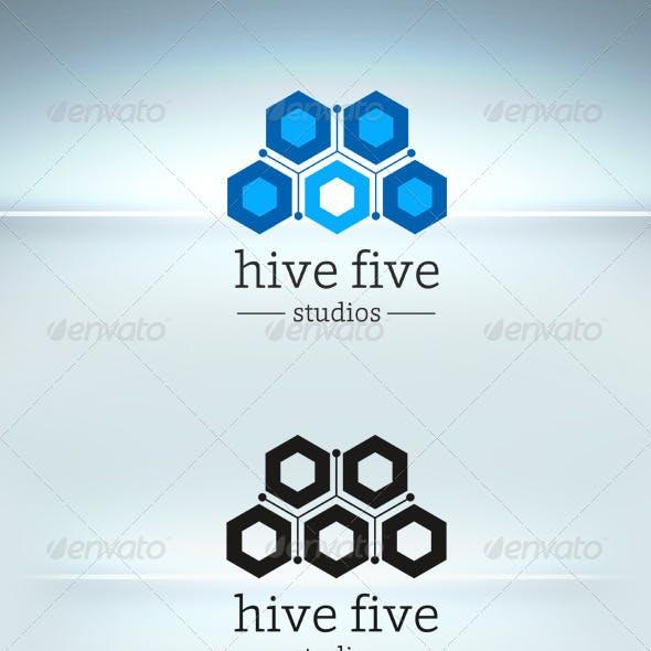Hive Five Logo Template
