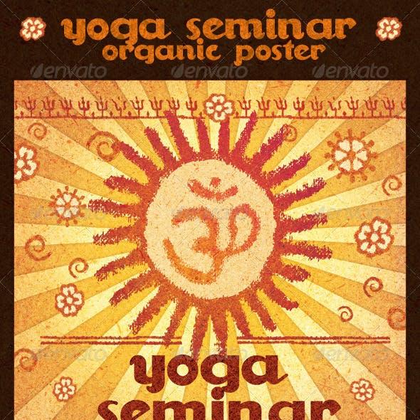 Yoga Seminar Organic Poster