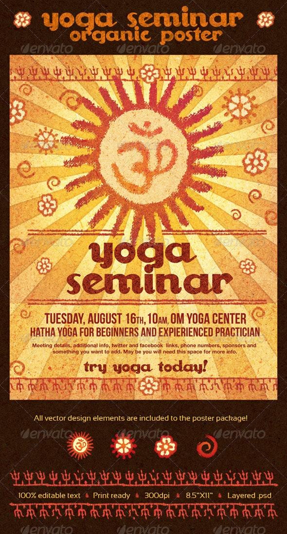 Yoga Seminar Organic Poster - Commerce Flyers