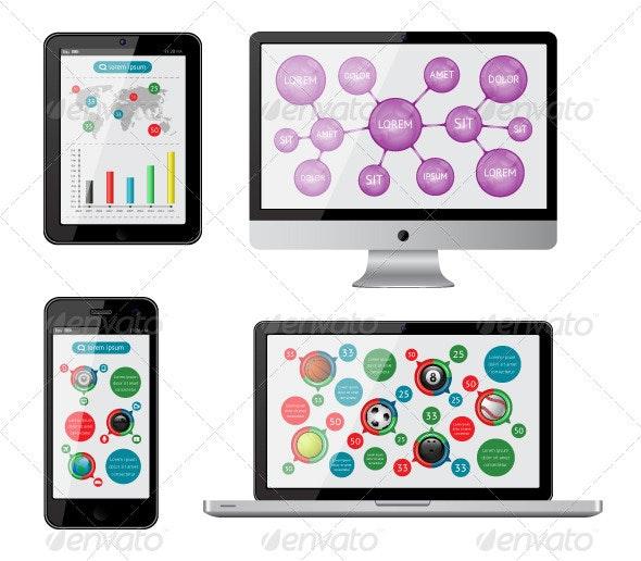 Isolated gadgets  - Web Elements Vectors