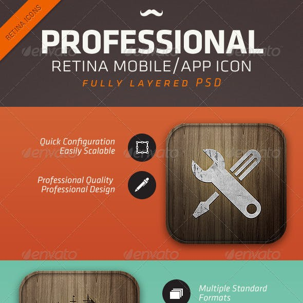 Retina Wood Mobile App Icon