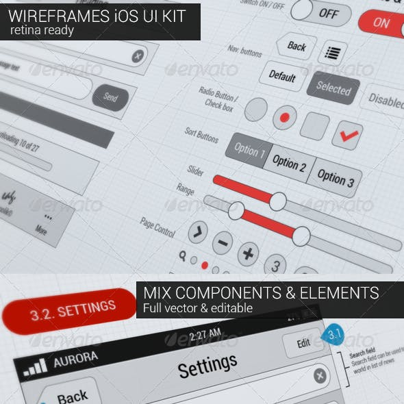 Wireframes iOS UI KIT
