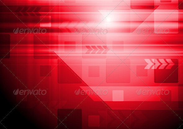 Vector hi-tech background with arrows - Backgrounds Decorative