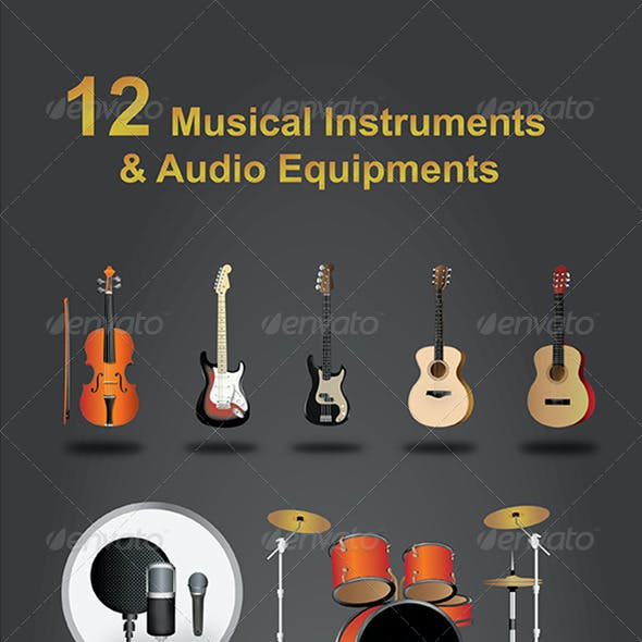 12 Musical Instruments and Audio Equipments