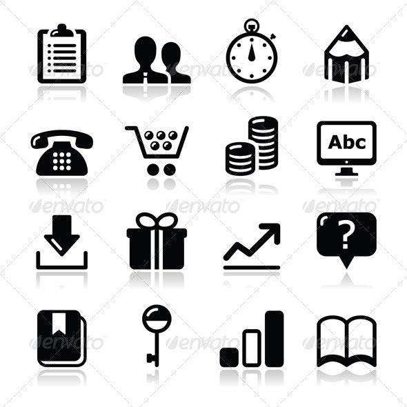 Website internet icons set - vector - Web Technology