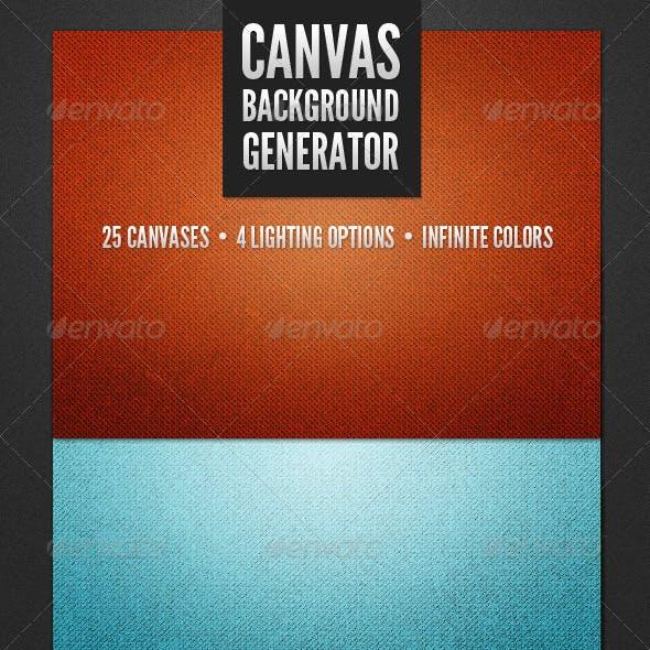 Modern Canvas Background Generator