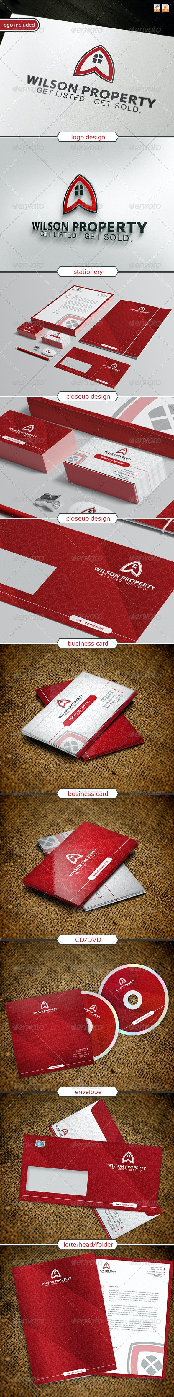 Wilson property Logo & Identity - Stationery Print Templates