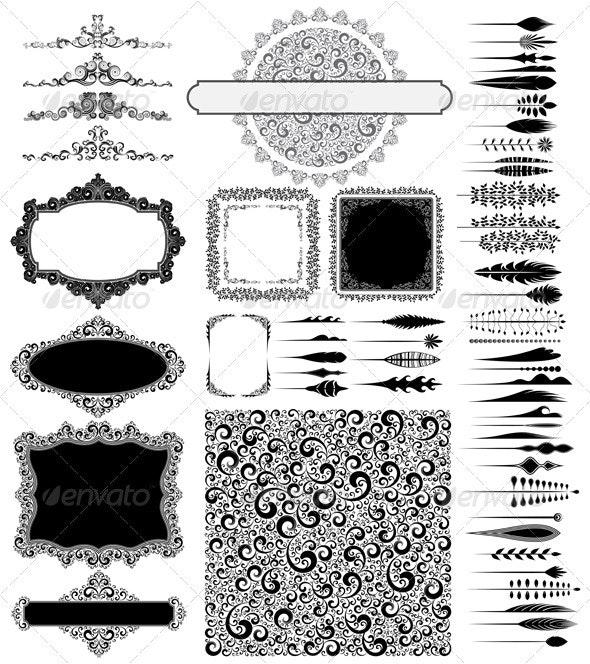 Design elements collection - Decorative Vectors