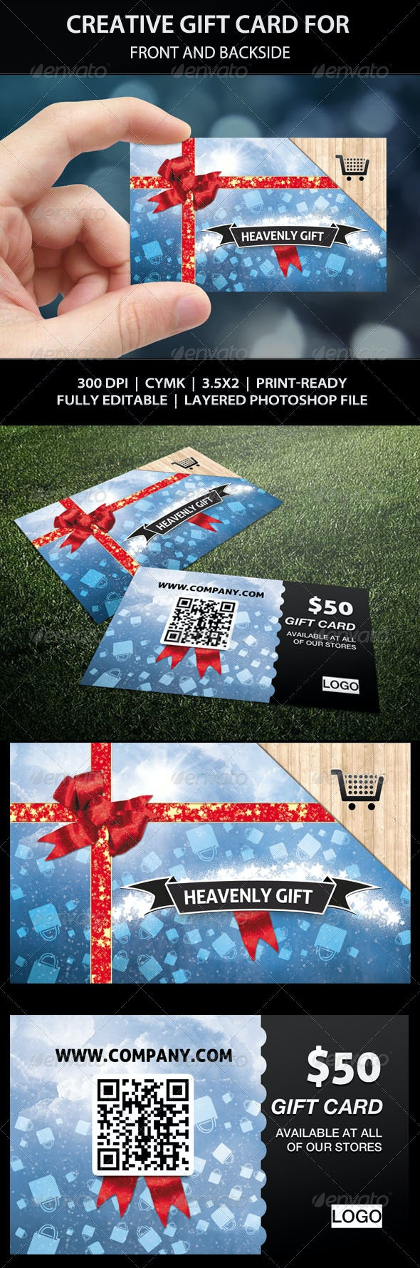 Creative Gift Card - Coupon - Birthday Present - Loyalty Cards Cards & Invites