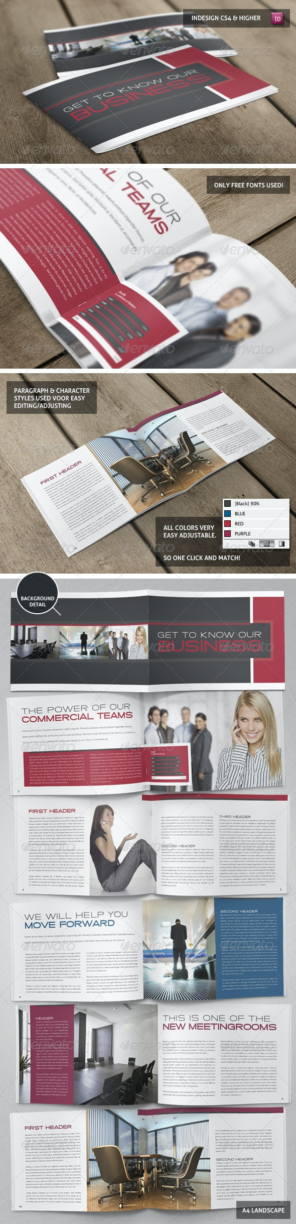 Stylish Business Booklet Template - Corporate Brochures