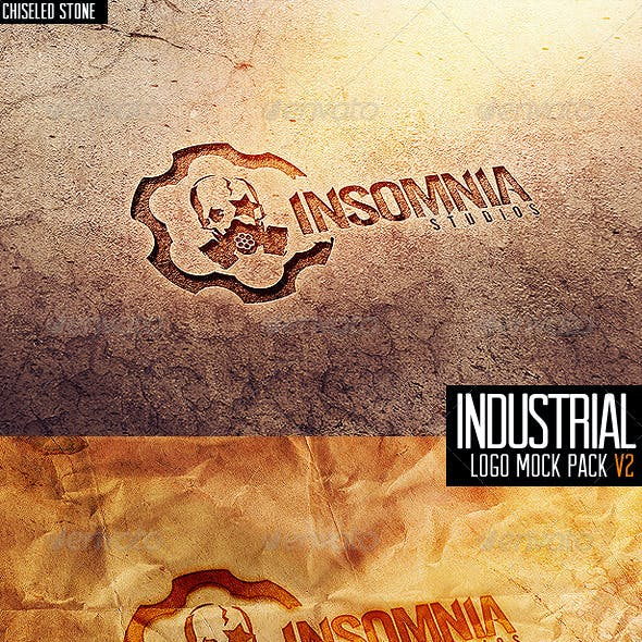 Industrial Photorealistic Logo Mock-Up V2