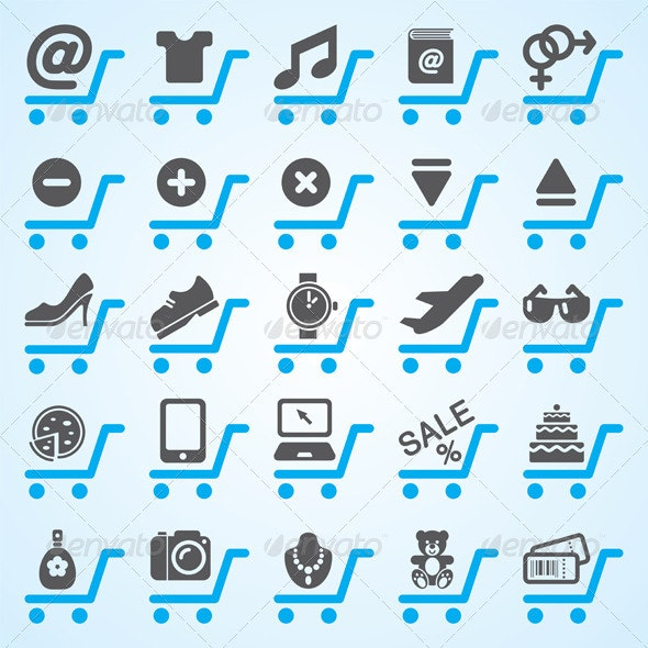 Shopping And E-Commerce Icons  - Web Elements Vectors