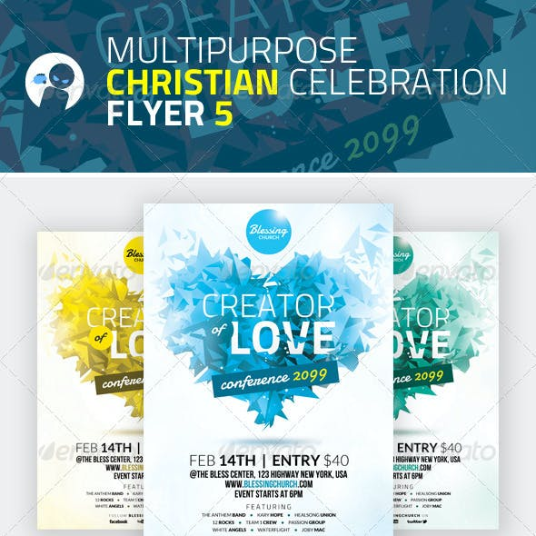 Multipurpose Christian Celebration Flyer 5