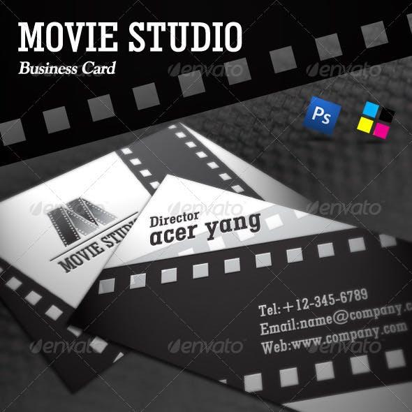Movie Studio Business Card