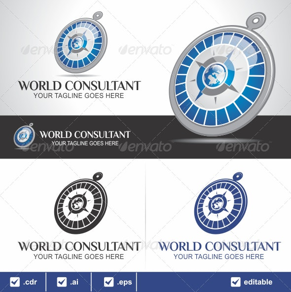 World Consultant Logo - Objects Logo Templates