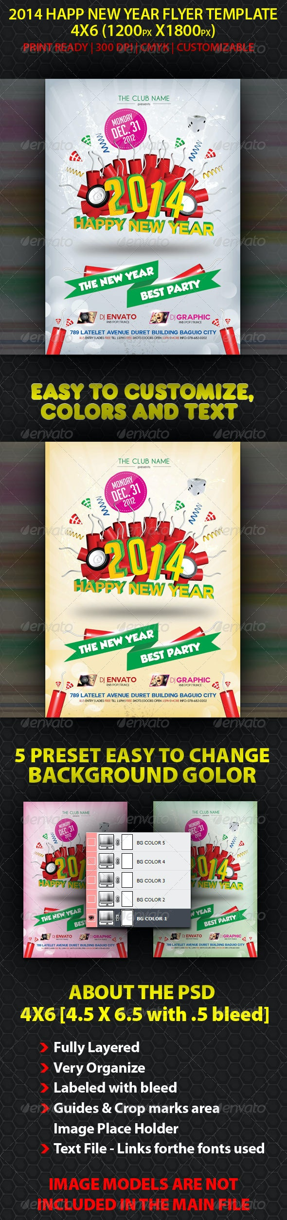 2014 New Year Flyer Template - Holidays Events