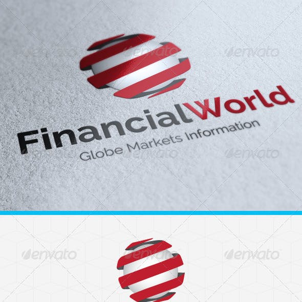 Financial World Logo Template