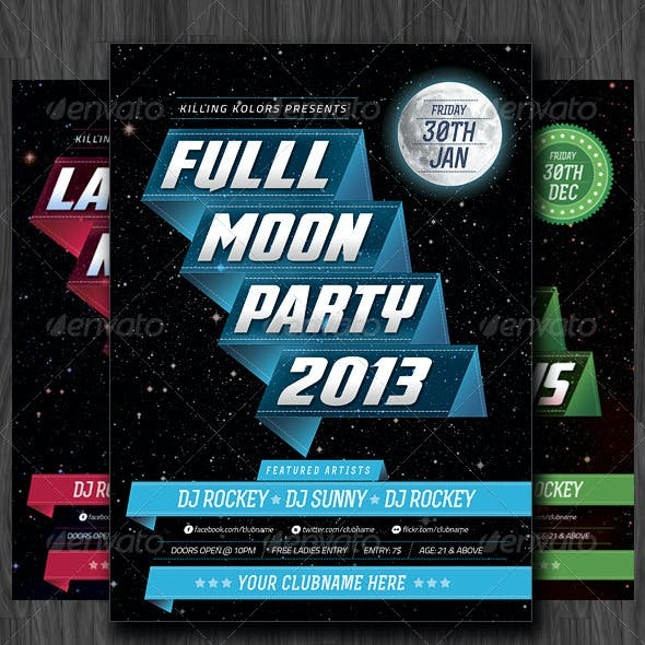 Full Moon Party Flyer